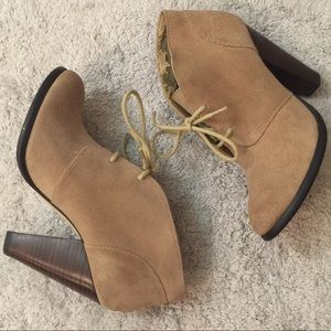 Seychelles Suede tan booties (Anthropology brand)